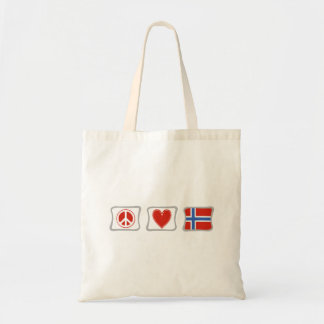 Peace Love and Norway Squares Tote Bag