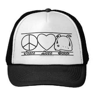 Peace Love and Octopi Trucker Hat
