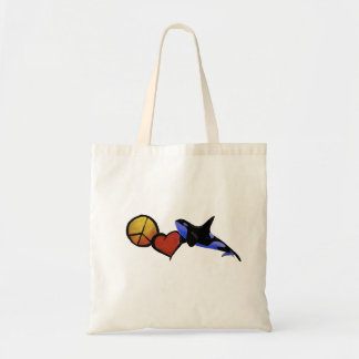 Peace, Love, and Orcas Tote Bag