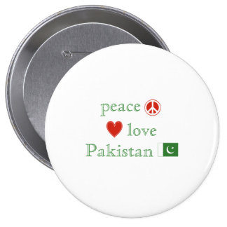 Peace Love and Pakistan Pinback Button