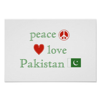 Peace Love and Pakistan Poster