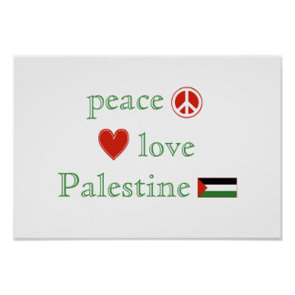 Peace Love and Palestine Poster