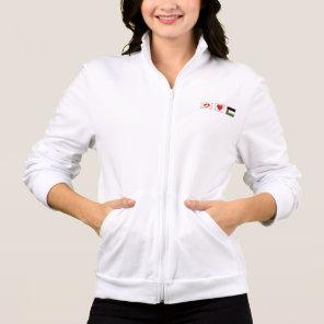 Peace Love and Palestine Squares Ladies Jacket