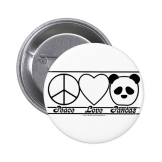 Peace Love and Pandas Buttons