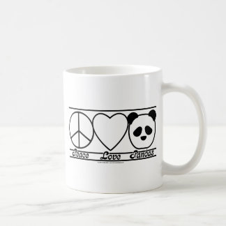 Peace Love and Pandas Coffee Mug