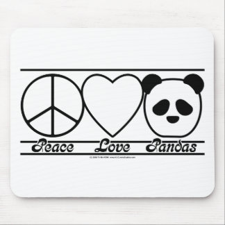 Peace Love and Pandas Mouse Pad