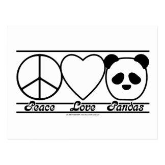 Peace Love and Pandas Postcard