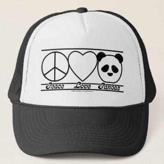 Peace Love and Pandas Trucker Hat