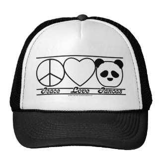 Peace Love and Pandas Trucker Hat