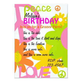 Peace, Love and Party Card
