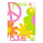 Peace, Love and Party- No Text Personalized Announcement