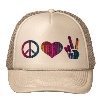 Peace love and peace  Trucker Hat