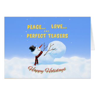 Peace, Love and Perfect Teasers Holiday card
