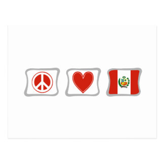 Peace Love and Peru Squares Postcard