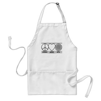 Peace Love and Pie Adult Apron