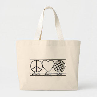 Peace Love and Pie Tote Bags