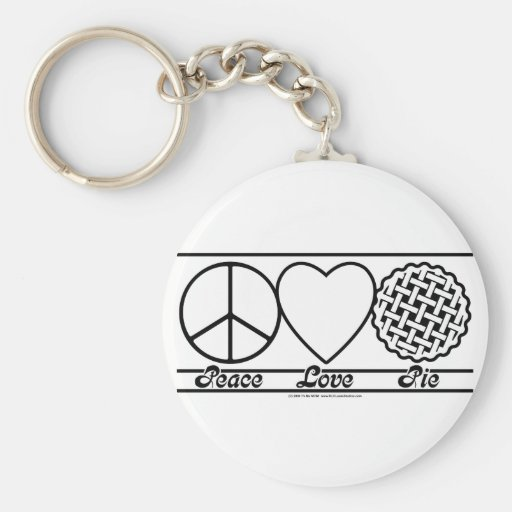 Peace Love and Pie Key Chains