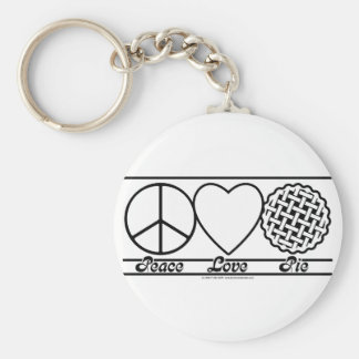 Peace Love and Pie Keychain