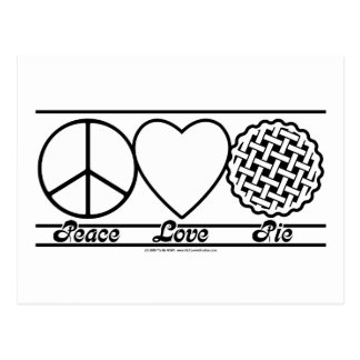 Peace Love and Pie Postcard