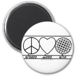 Peace Love and Pie Refrigerator Magnets
