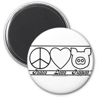 Peace Love and Piggies Magnets