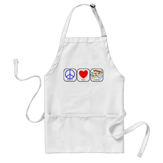 Peace, Love, and Pizza Adult Apron