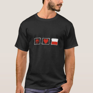 Peace Love and Poland Squares T-Shirt