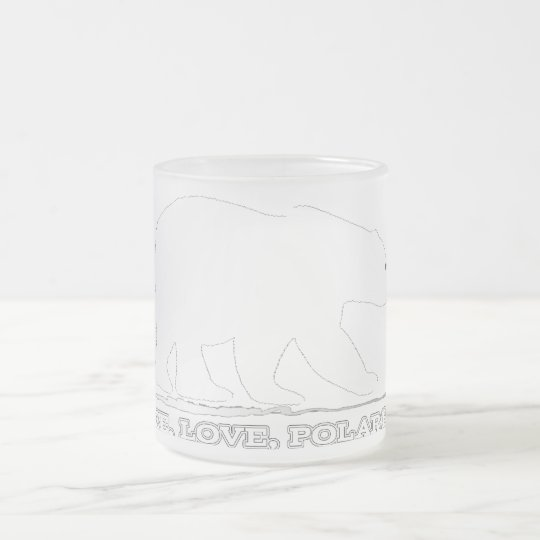 Peace, Love, and Polar Bear Mug