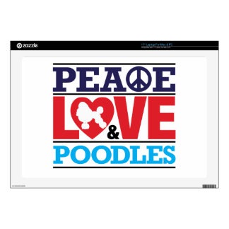"""Peace Love and Poodles Decal For 17"""" Laptop"""