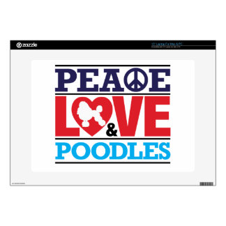 Peace Love and Poodles Decal For Laptop