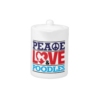 Peace Love and Poodles Teapot