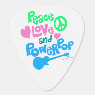 Peace Love and Power Pop Guitar Pick