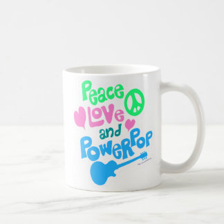 Peace, Love and Powerpop 2-Side Coffee Mug