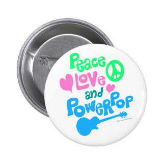Peace Love and Powerpop Pins