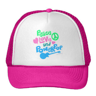 Peace, Love and Powerpop Trucker Hat