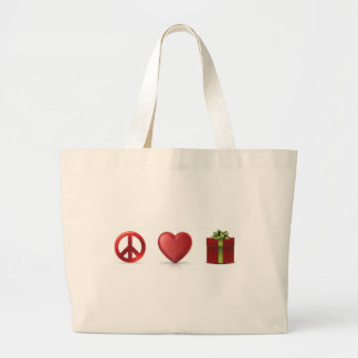 Peace Love and Presents Tote Canvas Bag