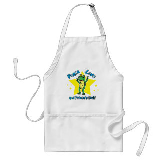 Peace love and Princes' soul frog prince Adult Apron