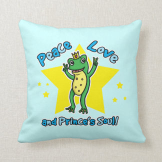 Peace love and Princes' soul frog prince Pillow