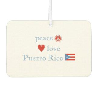 Peace Love and Puerto Rico Car Air Freshener