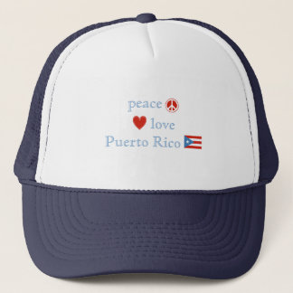 Peace Love and Puerto Rico Trucker Hat