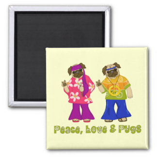 Peace Love and Pugs Magnets