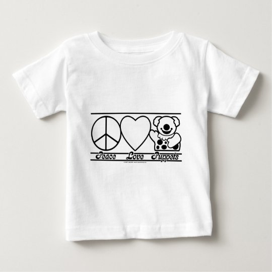 Peace Love and Puppets Baby T-Shirt