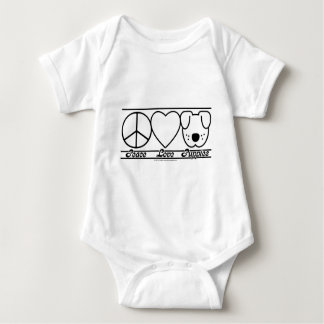 Peace Love and Puppies Baby Bodysuit