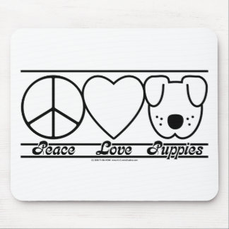 Peace Love and Puppies Mouse Pad
