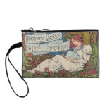 Peace love and reading books vintage reader coin purses