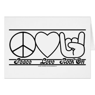 Peace Love and RockOn Greeting Card