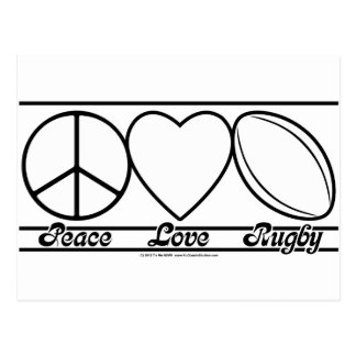 Peace Love and Rugby Postcard