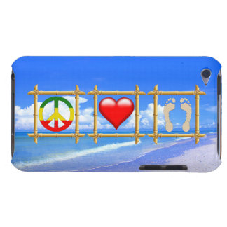 Peace, Love, And Sandy Feet Barely There iPod Cover