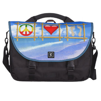 Peace, Love, And Sandy Feet Laptop Bag