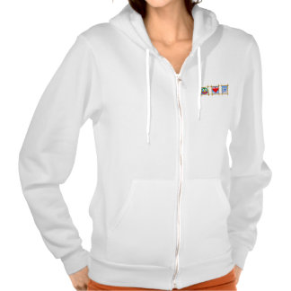 Peace, Love, And Sandy Feet Hooded Pullovers